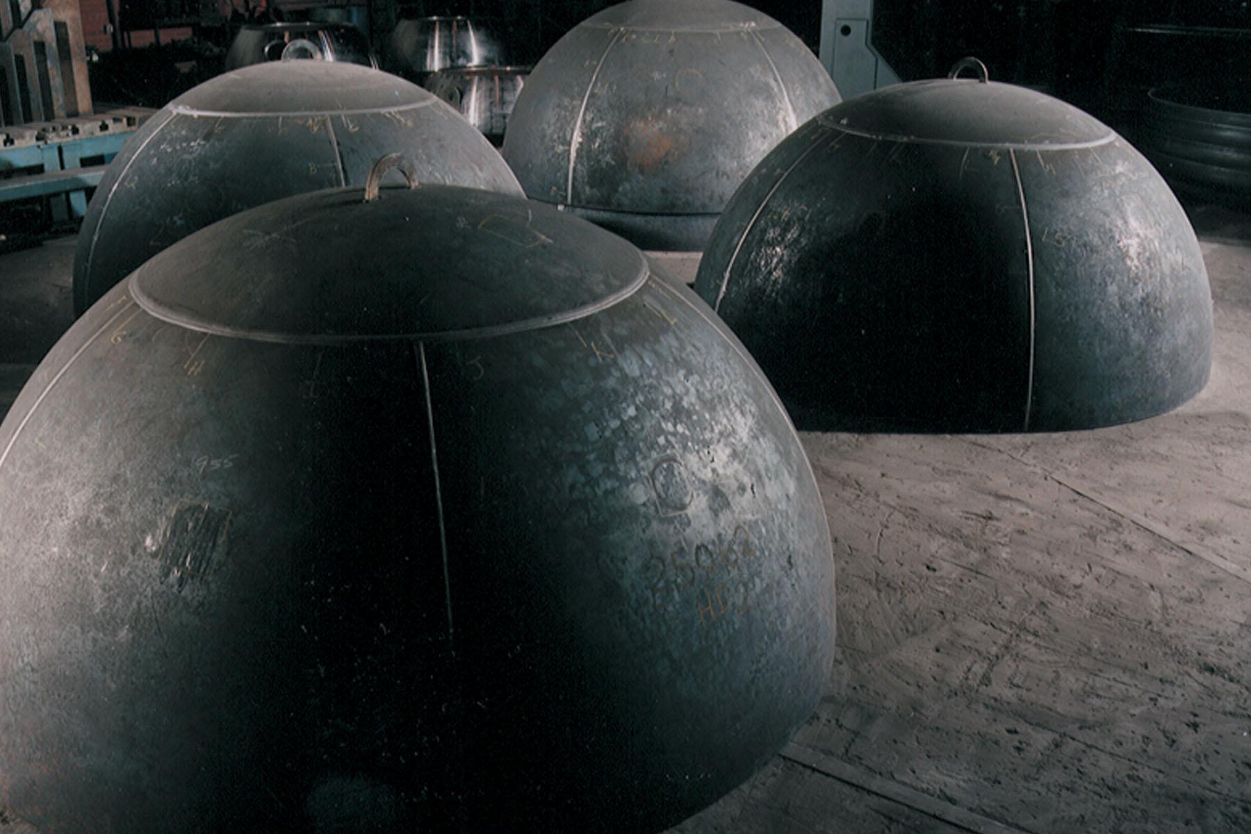 Formed steel heads