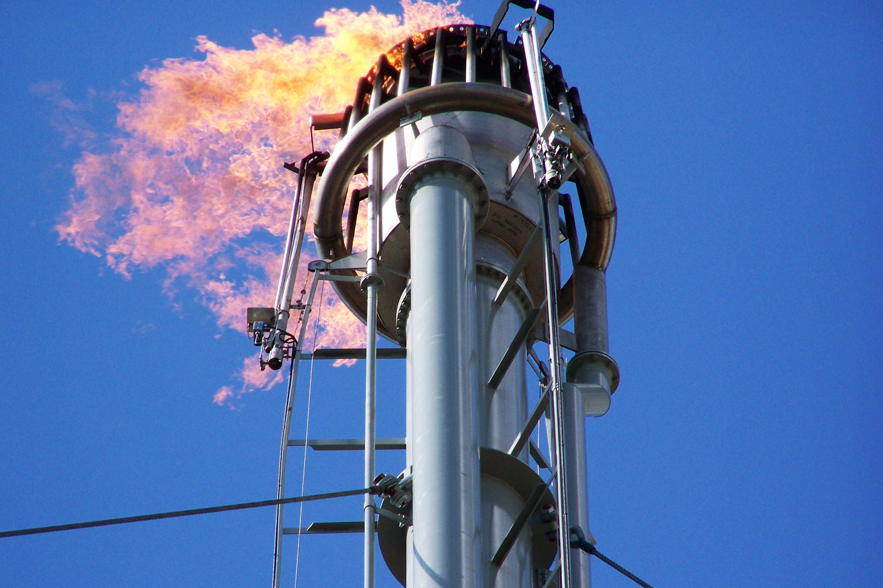 Combustion equipment flare stack