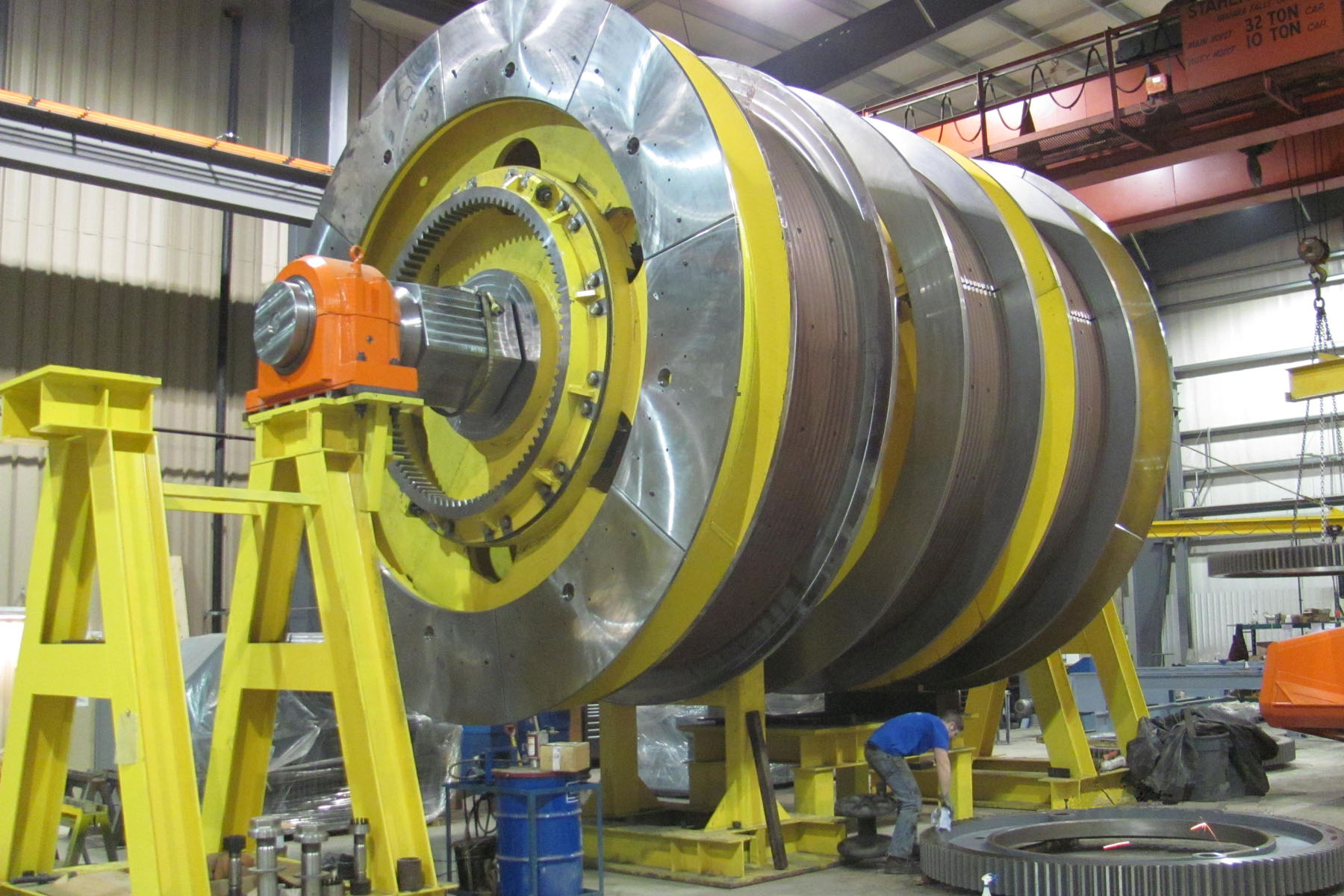 Machined, fabricated and painted product at Canerector facility