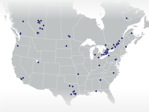 Map of Canerector Locations